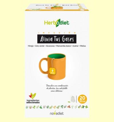 Infusión Herbodiet Alivia tus Gases - Novadiet - 20 bolsitas filtro