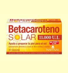 Betacaroteno Solar 11000 UI - Natysal - 30 cápsulas