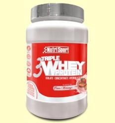 Triple Whey Protein Fresa - Nutrisport - 1 kg