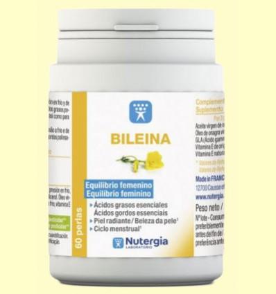 Bileina - Aceite de Onagra virgen y vitamina E natural - Nutergia - 180 perlas