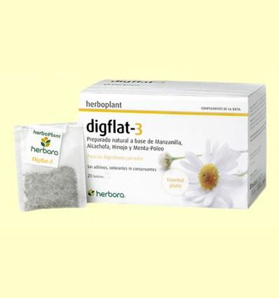 Digflat-3 Infusión - Herbora - 20 filtros