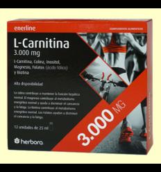 L-Carnitina 3.000 mg - Herbora - 12 viales