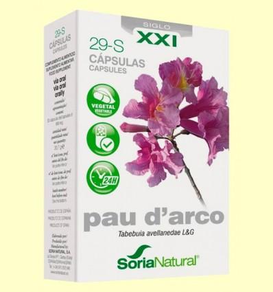 Pau D'Arco 29 S XXI - Soria Natural - 30 cápsulas