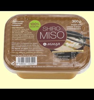 Shiro Miso - No pasteurizado - Mimasa - 300 gramos