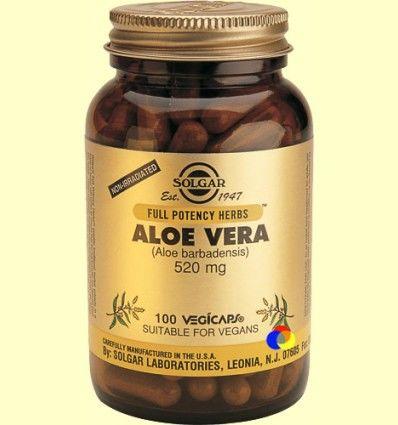 Aloe Vera Cápsulas vegetales - Solgar - 100 cápsulas
