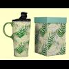 Taza para llevar Tropical de cerámica con tapa - Cha Cult - 400 ml