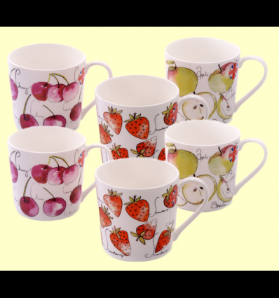 Tazas de Porcelana Fruit Mix - Cha Cult - 6 unidades