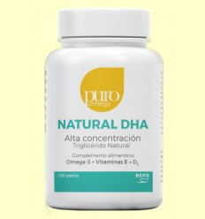 Natural DHA Alta Concentración - Puro Omega - 180 perlas