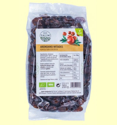 Arándano Mitades ecológico Deshidratado - Eco-Salim - 200 gramos
