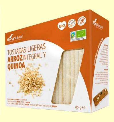 Tostadas Ligeras de Arroz y Quinoa Bio - Soria Natural - 85 gramos