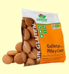 Galletas de Piña y Coco Bio Celisor - Soria Natural - 200 gramos