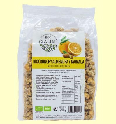 Bio Crunchy Almendra y Naranja - Eco-Salim - 250 gramos