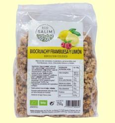 Bio Crunchy Frambuesa y Limón - Eco-Salim - 250 gramos