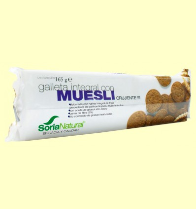 Galleta Integral con Muesli - Soria Natural - 165 gramos