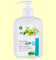 Jabón Líquido Manos y Rostro con Aloe Vera y Árbol del Té Bio - Santiveri - 250 ml