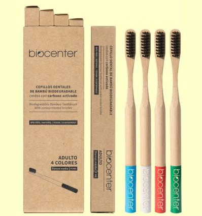 Pack de Cepillos de Dientes de Bambú - Biocenter - 4 unidades