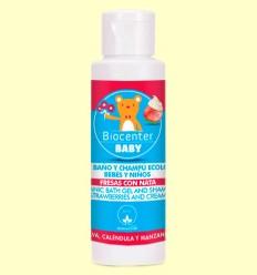 Gel de Baño Infantil Bio - Fresas con Nata - Biocenter - 100 ml