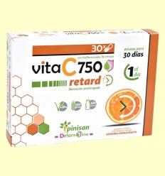 Vita C Retard 750 mg - Vitamina C - Pinisan Laboratorios - 30 cápsulas
