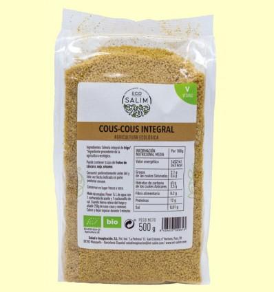 Cous Cous Integral Ecológico - Eco-Salim - 500 gramos