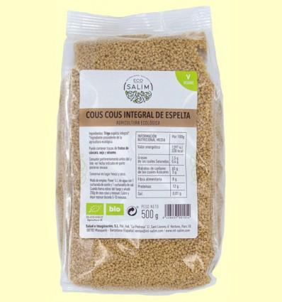 Cous Cous Integral de Espelta ecológica - Eco-Salim - 500 gramos