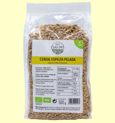 Cereal Espelta Pelada - Eco-Salim - 500 gramos