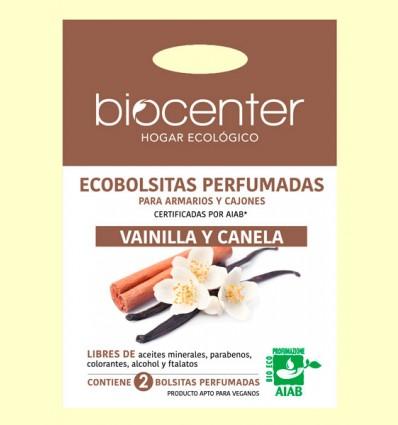 Bolsitas Perfumadas de Armario Bio - Vainilla y Canela - Biocenter - 2 bolsitas