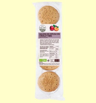 Galletas de Espelta con Ciruela y Fibra Ecológicas - Eco-Salim - 200 gramos