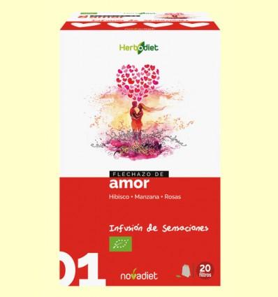 Flechazo de Amor - Infusión de Hibisco Manzana y Rosas Bio - Novadiet - 20 filtros