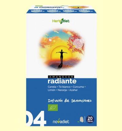 Amanecer Radiante - Infusión Bio - Novadiet - 20 filtros
