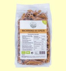 Macarrones de Espelta Ecológicos - Eco-Salim - 250 gramos