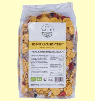 Muesli Crunchy Fruit Bio - Eco-Salim - 250 gramos
