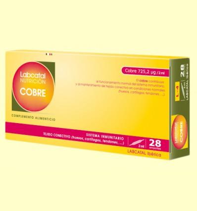 Labcatal 4 - Cobre - Oligoelementos - 28 ampollas