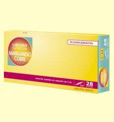 Labcatal 12 - Manganeso Cobre - Oligoelementos - 28 ampollas
