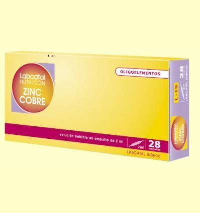 Labcatal 19 - Zinc Cobre - Oligoelementos - 28 ampollas