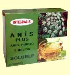 Anís Plus Soluble - Anís, Hinojo y Melisa - Integralia - 20 sobres