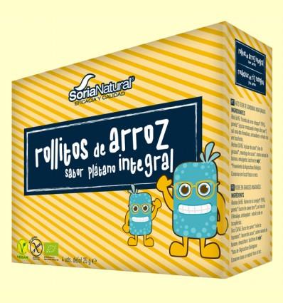 Rollitos Arroz Integral Plátano Bio - Soria Natural - 4 packs