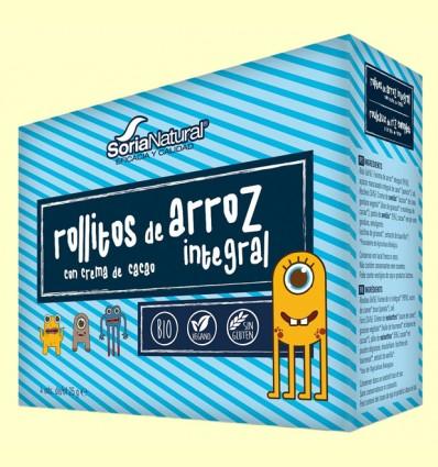 Rollitos Arroz Integral Crema Cacao Bio - Soria Natural - 4 packs