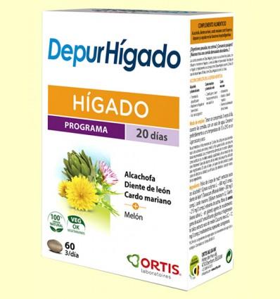 Depur Hígado - Laboratorios Ortis - 60 comprimidos