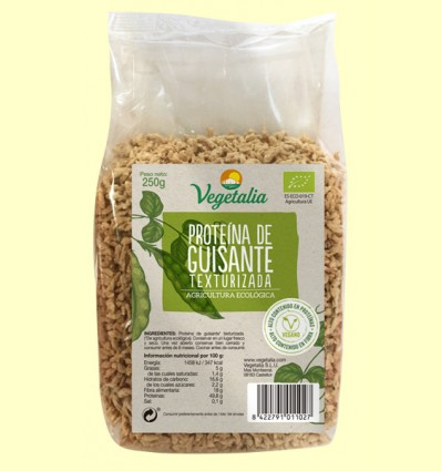 Proteína de Guisante Texturizada Bio - Vegetalia - 250 gramos