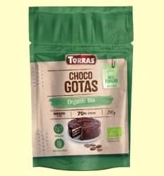 Choco Gotas 70% Cacao Bio - Torras - 200 gramos