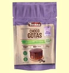 Choco Gotas 60% Cacao con Stevia - Torras - 200 gramos