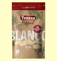Gotas Chocolate Blanco Sin Azúcar añadido - Torras - 1 kg