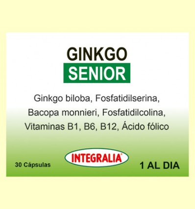 Ginkgo Senior - Integralia - 30 cápsulas