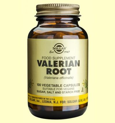 Raíz de Valeriana Máxima potencia - Solgar - 100 cápsulas