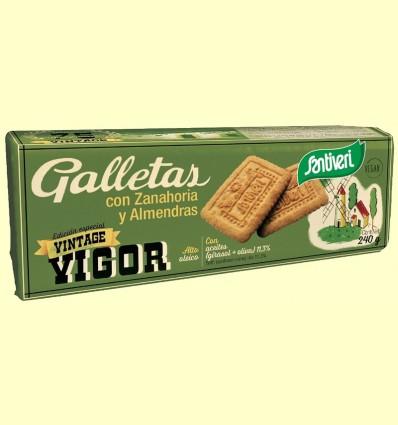 Galletas con Zanahoria y Almendras - Santiveri - 240 gramos