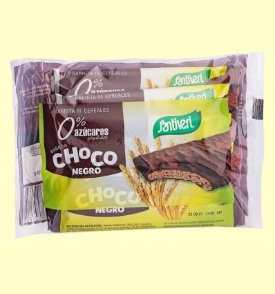 Barrita de Cereales Chocolate Negro - Santiveri - 6 unidades