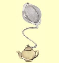 Colador Bola de Té con figura Tetera de bronce - Cha Cult - 5 centímetros