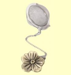 Colador Bola de Té con figura Flor de bronce - Cha Cult - 5 centímetros
