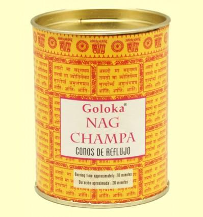 Conos de Incienso Nag Champa - Goloka - 18 conos