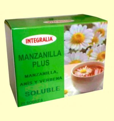 Manzanilla Plus Soluble - Manzanilla Anís Verde y Verbena - Integralia - 20 sobres